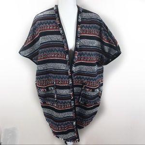 Sam Edelman aztec blanket cardigan size XS